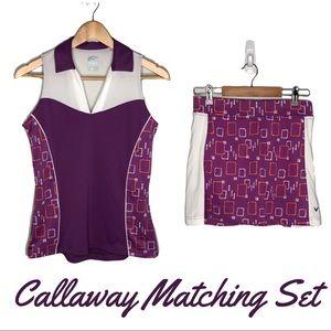 Callaway Golf Matching Tank Top and Skirt Set